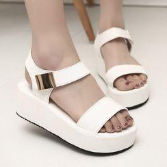 Weiya - Ankle-Strap Platform Sandals
