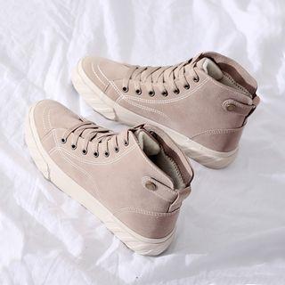 Solejoy Fleece Lined High-Top Sneakers