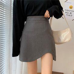 Luminato - Asymmetric Mini Skirt