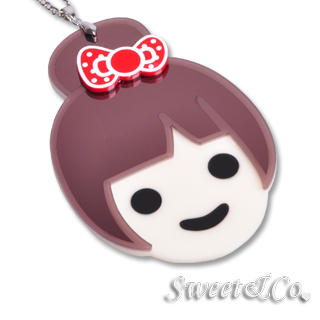 Sweet & Co.(スイートアンドカンパニー) - Kandy X Sweet&Co. Polka Dots Ribbon Long Necklace