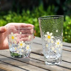 Cuplet - Floral Print Glass Drinking Cup