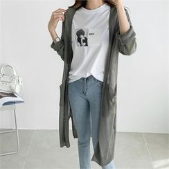 PIPPIN - Open-Front Summer Long Cardigan