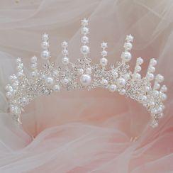 la Himi - 婚礼仿珍珠水钻皇冠