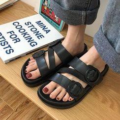 Honkizz - Strappy Slide Sandals