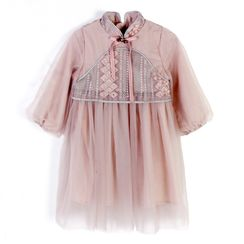 Caleah  - Kids Hanfu Long-Sleeve A-line Dress