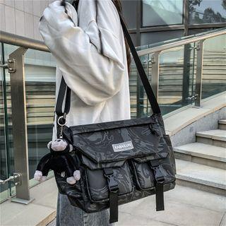 Carryme - Lettering Applique Shoulder Bag
