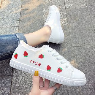 Satomi(サトミ) - Canvas Lace Up Sneakers