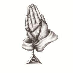 Mauvola - Pray Gesture Print Waterproof Temporary Tattoo