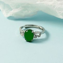 Forainer - Gemstone Alloy Open Ring