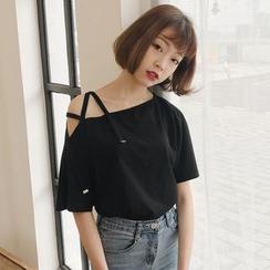 Fairy Essential - 短袖露肩T恤