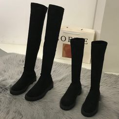 Queenie's Home - Platform Tall Boots / Over The Knee Boots