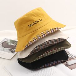 FROME - Letter Embroidered Bucket Hat