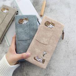 Kunado - Cartoon Cat Print Long Wallet