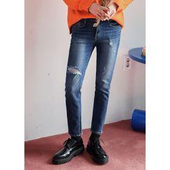 GERIO - Distressed Slim-Fit Jeans