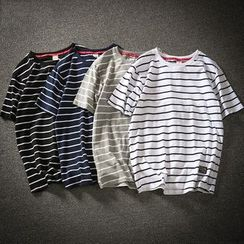 Rampo - Striped Short Sleeve T-Shirt