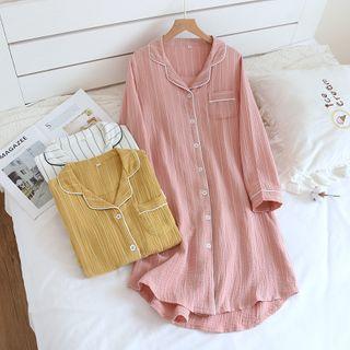 Dogini - Long-Sleeve Striped Pajama Dress