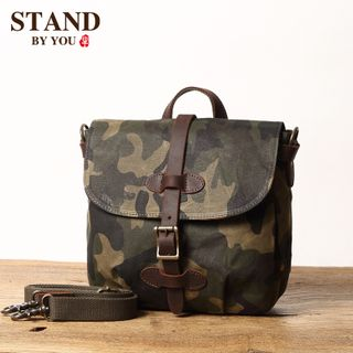Wavecho - Camo Print Canvas Crossbody Bag