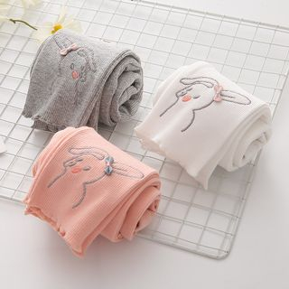 Seashells Kids - Kids Rabbit Embroidered Leggings