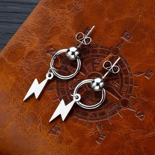 Tenri - Stainless Steel Lightning Dangle Earring