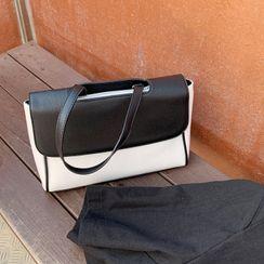 DEEPNY - Contrast-Panel Canvas Tote Bag