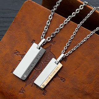 Tenri - Stainless Steel Tag Pendant Necklace