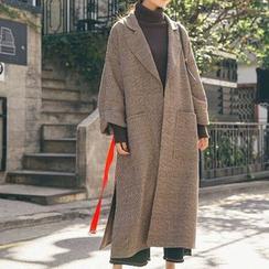 Apotheosis - Plaid Open Front Long Coat