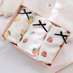 mooGRID - Set Of 3: Fruit Print Panties