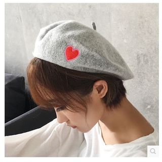 FROME - Heart Embroidered Beret