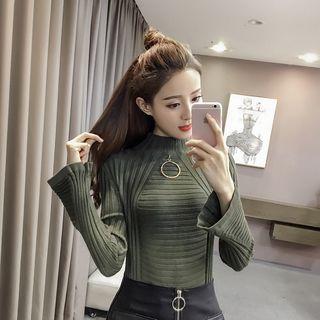 Sienne - Wide Long-Sleeve Rib Knit Sweater