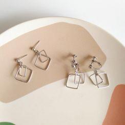 Yambo - Geometric Drop Earring