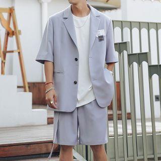 VEAZ - 套装:短袖西装外套 + 短裤