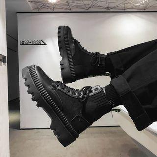 Tanzanite - 厚底短筒襪子靴