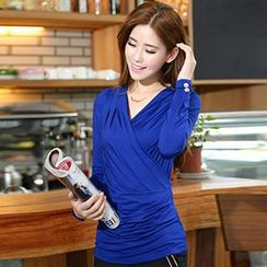 Romantica - Long-Sleeve Wrapped Top