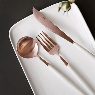 iswas - Rose Gold Table Spoon / Fork / Knife