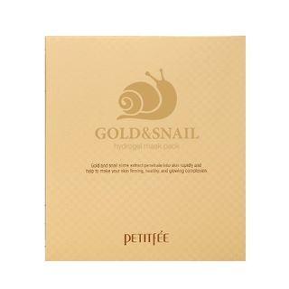 PETITFEE - Gold & Snail Hydrogel Mask Pack 5pcs