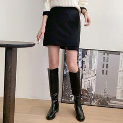 mimi&didi - Asymmetric-Hem Mini Wrap Skirt