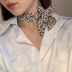 Calypso - 豹纹印花蝴蝶结头箍