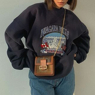 Colada - Embroidered Loose-Fit Sweatshirt