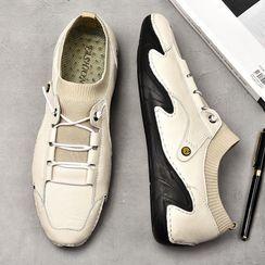 WeWolf - 真皮针织拼接系带日常鞋