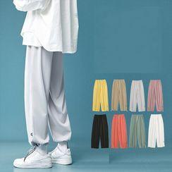 JUN.LEE - Plain Oversized Sweatpants