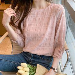Emeraude - 七分袖雪纺衬衫