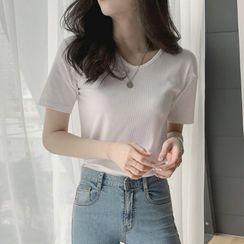Leoom - Plain Short-Sleeve T-Shirt