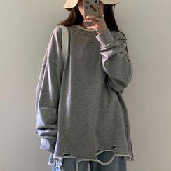 CooLook - Plain Long-Sleeve T-Shirt