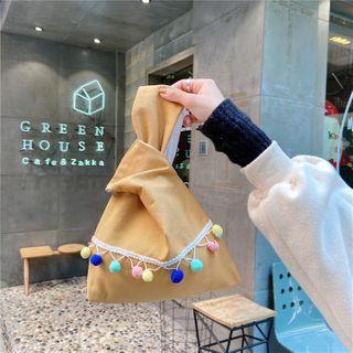 Eastin - 毛毛球棉質手提包