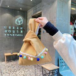 Eastin - Pom Pom Cotton Handbag