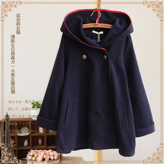 Vateddy - Two-Button Hooded Coat