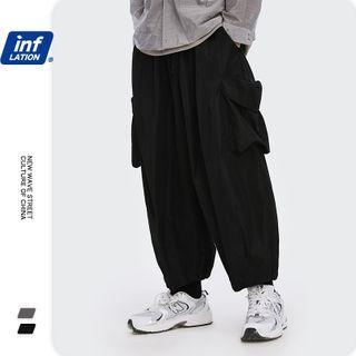 Newin - 立体大口袋宽松束脚风衣裤