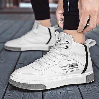Signore - 繫帶字母休閒鞋