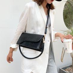 Faneur - Mini Croc Grain Crossbody Bag
