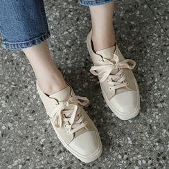 CLICK - Square-Toe Paneled Sneakers